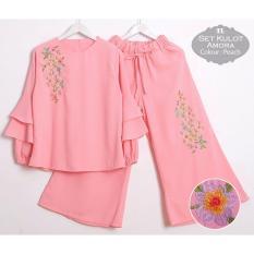 TERLARIS!!! [Set Kulot Amora Peach TL] setelan wanita betrik peach / baju muslim wanita / baju muslimah / baju muslim wamita terbaru / baju muslim murah
