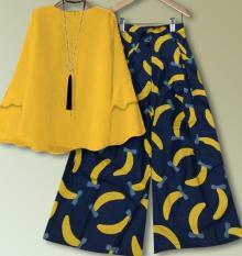 TERLARIS!!! [Set Kulot Banana Mustard TL] setelan wanita balotelly mustard / baju muslim wanita / baju muslimah / baju muslim wamita terbaru / baju muslim murah