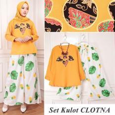 TERLARIS!!! [Set Kulot Clotna Mustard TL] setelan muslim wanita balotelly mustard / baju muslim wanita / baju muslimah / baju muslim wamita terbaru / baju muslim murah