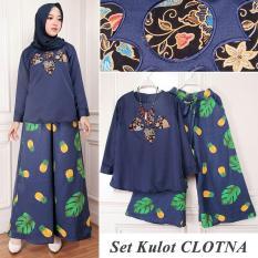 TERLARIS!!! [Set Kulot Clotna Navy TL] setelan muslim wanita balotelly navy  / baju muslim wanita / baju muslimah / baju muslim wamita terbaru / baju muslim murah