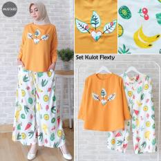 TERLARIS!!! [Set Kulot Flexty Mustard TL] setelan muslim wanita balotelly mustard / baju muslim wanita / baju muslimah / baju muslim wamita terbaru / baju muslim murah
