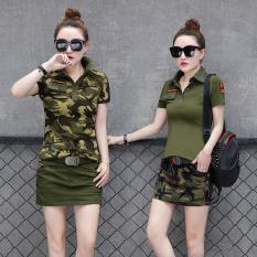 T-Shirt Lengan Pendek Casual Wanita (Hijau Army (Satu Baju Kaos)) (Hijau Army (Satu Baju Kaos))