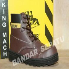 TERMURAH 59 900 Sepatu Boots Caterpillar Safety High Sintetis Licin Original Bandung