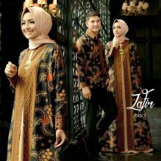 Termurah!!!  Baju Couple Zafir 3In1 ( Outer Cardi Cewek + Inner Maxi + Kemeja Cowok  Batik Keren
