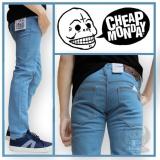Toko Termurah Celana Jeans Pria Skinny Cheap Monday Bioblitz Denim Pria Biru Muda Celana Jeans Pria Jeans Panjang Celana Jeans Cowok Skinny Slim Fit Cheap Monday