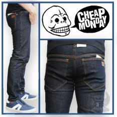 TERMURAH!  Celana Jeans Pria skinny Cheap Monday Blueblack - Denim Pria - Celana Jeans pria - Jeans panjang - Celana jeans cowok - skinny - Slim Fit