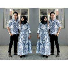 Termurah!!!  Couple Batik Gamis Simple Elegan  Batik Keren