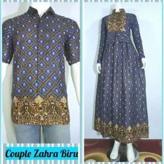 Termurah!!!  Couple Zahra (Gamis Batik+Kemeja)  Batik Keren