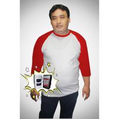 Toko Termurah Kaos Big Size Dan Kaos Jumbo Raglan 2Xl Dan 3Xl Putih Merah Online Di Dki Jakarta