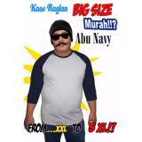 Ulasan Lengkap Termurah Kaos Raglan Big Size Dan Kaos Jumbo Xxl 3Xl Abu Misty Navy