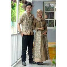 Termurah!!!  Sarimbit Gamis Primid Eklusive  Batik Couple Elegan Cantik  Batik Keren