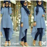 Beli Lf Terusan Muslim Isabel Jumpsuit Baju Muslim Tunik Muslim Panjang Good Quality Adorais Ss Blue D2C Online Terpercaya