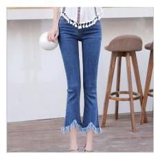 Beli Tf Bootleg Jeans Women Nine Minutes Of Pants Micro Flared Jeans Star With Jeans Dark Blue Intl Online Murah