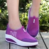 Tf Ladies Gaya Baru Olahraga Sandal Kasual Bernapas Olahraga Wedge Heel Net Kain Sepatu Ungu Intl Tiongkok Diskon