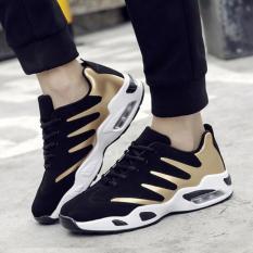 Harga Tf Pria Fashion Olahraga Sepatu Han Edition Bernapas Sepatu Kasual Menjalankan Sepatu Pria Hitam Dan Emas Intl Oem Baru