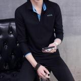 Tf Pria Baru Fashion Lengan Panjang Polo Shirt Blue Collar Intl Int M Oem Diskon