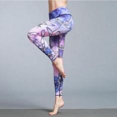 TF Baru Sports Women & #39; S Celana Hewan Dicetak Yoga Motion Ketat Elastis Latihan Binaraga Pants (Dragonfly) & Nbsp;-Intl