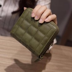 Tf Women Korean Mini Wallet Zipper Short Wallet Green Intl Asli