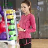 Review Pada Perempuan Tf Sport Pakaian Set Yoga Kain T Shirt Bar Pants Cepat Pengeringan Pakaian Tiga Piece Suit Rose Intl