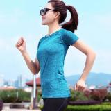 Spesifikasi Perempuan Tf Sport Pakaian Set Yoga Kain T Shirt Latihan Kebugaran Menjalankan Pakaian Cepat Pengeringan Pakaian Biru Intl Murah Berkualitas