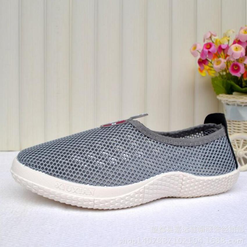 TF Sepatu Kasual Wanita Sneakers Flat Shoes Outdoor Olahraga Kebugaran  Menjalankan Fashion Hollow Net Sepatu ( d000091455