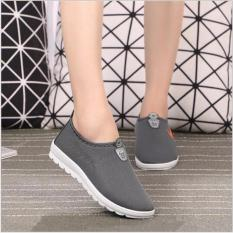 Spesifikasi Tf Wanita Fashion Sepatu Sepatu Flat Shoes Outdoor Olahraga Kebugaran Menjalankan Berjalan Abu Abu Intl Yg Baik