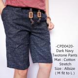 Beli Tgf Celana Pendek Pria Model Distro Gaul Dark Navy Twotone Pants 420 Di Indonesia