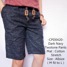 Spesifikasi Tgf Celana Pendek Pria Model Distro Gaul Dark Navy Twotone Pants 420 Yang Bagus