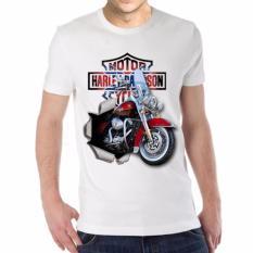 Thanks Mother Kaos Distro kaos 3d kaos pria kaos motor Harley Davidson 1 - Putih