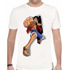 Thanks Mother Kaos Distro kaos 3d kaos pria kaos superhero Luffy One Piece Run - Putih