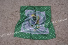 The 55 CM mulberry silk towel TRUE silk inclined line silk fabric small kerchief Fashion Hijab - intl
