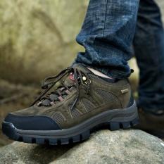 Bagian Bawah Tebal Pria Beristirahat Outdoor Hiking Sepatu Tahan Aus Intl Asli