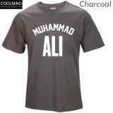 Jual Beli Yang Coolmind Muhammad Ali Mengenakan T Shirt Kasual Pakaian Pria Terbesar Kebugaran Lengan Pendek Dicetak Atas Cotton Tee Shirt Arang Intl Tiongkok