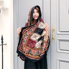 Di Melakukan Obeisance Turban Bohemia Beberapa Apa Totem Bunga Tassels Syal Besar Jilbab-Internasional