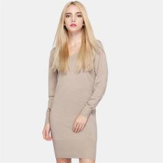 Toko Fashion Lady Pakaian Rajut Wanita Slim Lengan Panjang Sweater Musim Gugur Musim Dingin Rajutan Pullover Sweater Gaun Satu Ukuran Khaki Lengkap Tiongkok