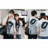Promo The Fashion Story Kaos Couple Face Abu T Shirt Couple Baju Pasangan Kaos Kompak Kaos Murah The Fashion Story Terbaru