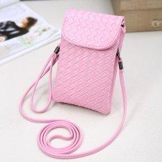 Versi Korea dari Baru All-Match Nol Dompet Ponsel Bag Hanging Leher Bahu Tas Tangan Kecil mini Mobile Phone Bag Wanita Satchel-Intl