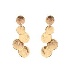 Daftar Baru Geometris Panjang Gold Alloy Earrings Earrings Perhiasan Kecil Anting All-Match Nn.-Intl