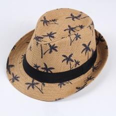 The, New, Selatan, Korea, Fashion, Hipster,, Floral, Dan, Jazz, Hat, Dari,, Jazz, Pantai (Khaki)-Intl