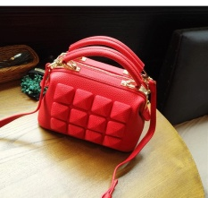 The new style of doctor wraps sweet fair lady handbag of already set shoulder bag inclined Ku bag the lovely and red bride wrap(is deep red) - intl
