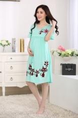 Baru Musim Panas Gaun Pendek Kartun Katun Lengan Gaun Wanita Longgar Baju Piyama Home Furnishing Lactation-Intl