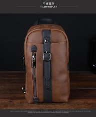 Harga Tren Baru Korea Leisure Chest Pack Crazy Horse Pria Paket Man Satchel Bag Bag Chest Kencang Intl Origin
