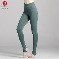 Ratu Pakaian Yoga Perempuan Autumn Baru Workout Yoga Celana Pinggang Pelangsing Kebugaran Kaki Celana #6644-Intl