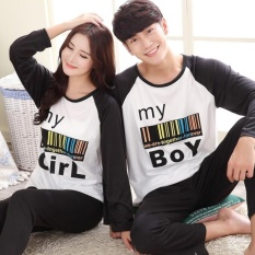 The spring and autumn period and the ms long thin men pantscontracted milk silk couples leisure wear pajamas