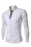 Beli Thelees Slim Double Zipper Mantel Pinggang Rompi Putih Yang Bagus