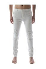 Beli Thelees Lurus Slim Celana Elastis Putih Online Korea Selatan
