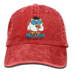 Therine Mr. Burung Hantu Berapa Banyak Menjilat Dewasa Denim Ayah Polos Bisbol Topi Topi-Internasional