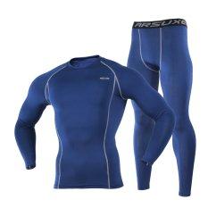 Ulasan Termal Pemanasan Bulu Kompresi Bersepeda Lapisan Dasar Menjalankan Set Pakaian Olahraga Kaos Jersey Celana And Pakaian Atas Biru Internasional