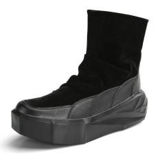 Jual Tebal Bawah Pria Nubuck Leather Martin Boots Casual Autumn Season 2 Fashion Platform Motor Militer Pria Boots Online