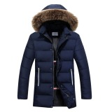 Beli Pria Hangat Tebal Mantel Musim Dingin Jaket Gaya Ritsleting Jaket Panjang And Tebal Pakaian Bersepeda Memakai Jaket And Mantel Biru Cfl Online Terpercaya